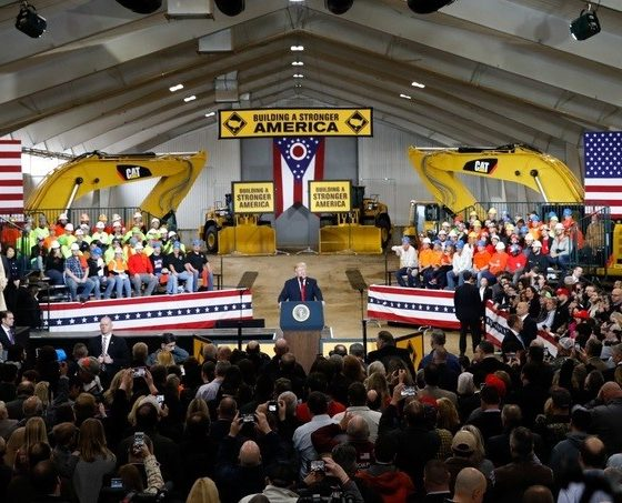 President Trump Addressing Workers